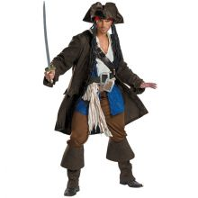 Premium Adult Captain Jack Sparrow Costum MD6014