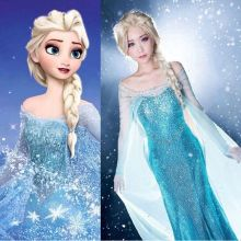 Frozen Sparkle Blue Princess Elsa Costume DR3077