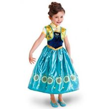 2015 New Frozen Fever Anna Kid Princess Dress Costume