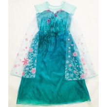 New Frozen Fever Elsa Kid Princess Dress Costume