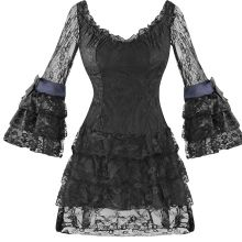 Gothic lace dress DR39124-X